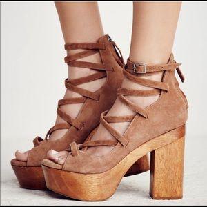 Shoes - Free People Bella Suede platform